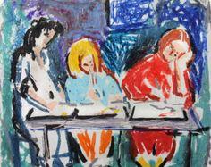 OIl Pastel drawing Giclee print Pastel sketch Wall by IvMarART Colorful Artwork, Modern Artwork, Abstract Wall Art, Abstract Print, Wall Art Prints, Fine Art Prints, Oil Pastel Drawings, Figure Sketching, Fine Art Paper