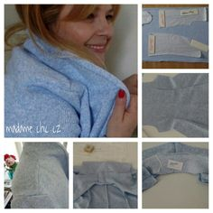 DIY cozy cardigan sweater/ blue sky
