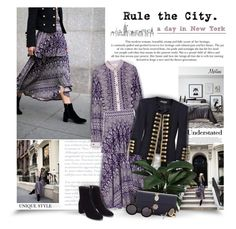 """Rule The City"" by thewondersoffashion ❤ liked on Polyvore featuring Tory Burch, Balmain, Dolce&Gabbana, Linda Farrow, Treasure & Bond and BP."