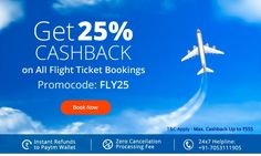 Browse freeecouponcodes.co.in to  use paytm coupons to get Get 25% Cashback on Flight Bookings @ paytm.com.online
