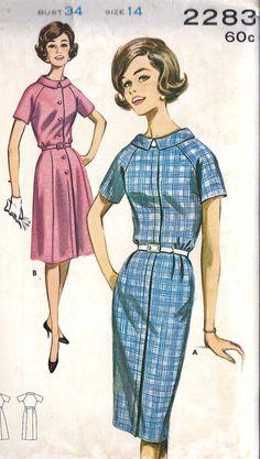 1960s Misses Roll Collar Dress