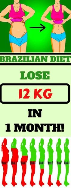 In this article we're going to show you the Brazilian Diet Plan which will help you lose up to 12 kg in just 1 month – and it's very simple!