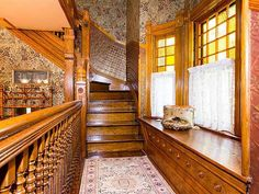 The John I. Jones House, 1887, designed by Chicago architect Cicero Hine. This stately Queen Anne Victorian is stunningly beautiful in every detail! Featured in national magazines, on housewalks, kitchen walks and garden walks. Winner of multiple awards. Large wrap-around open front porch, period wallpapers throughout, original butternut woodwork, pocket doors, 2 gas marble fireplaces, built-in china cabinet/server in the dining room. Turn-of-the-century kitchen with all the modern ameni...