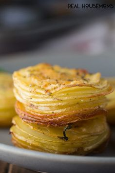Parmesan and Rosemary Potato Stacks -
