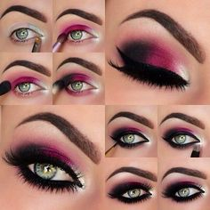 Sexy plum smokey eyes tutorial - so gorgeous!...x
