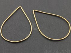 24K Gold Vermeil Over Sterling Silver, Extra Large Open Link Elegant Modern Shape, Jewelry Component Finding, 1 PEICE., (VM/696/32x48)
