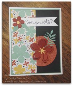 New Stampin' Up! Botanical Gardens Suite!  Best flower framelits to date!  See it at www.Booptique.wordpress.com 1/14/16