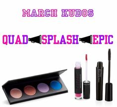 ATTENTION THIS IS MAJOR the March customer kudos is here and Younique (as always) delivered, holy crap it's a beaut So I'm the kudos which you get the FREEDOM of choice of everything You get.. ❤️Pressed shadow quad ❤️Liquid lipstick ❤️EPIC mascara I'm not done because ITS DISCOUNTED TOO! 30% off HOLY COW who needs this months kudos?!