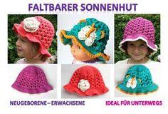 *Sonneschutz für die ganze Familie! Chic, luftig, flexibel!*  Dieser Hut ist der ideale Begleiter für unterwegs! Durch die Garnwahl ist der Hut elastisch und bleibt auch dann in Form, wenn er...