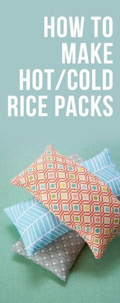 Tutorial on How to Make DIY Hot/Cold Rice Packs Great gift for friends and family! #DIYArtsandCrafts
