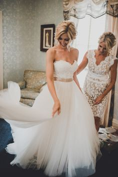 Bride in @watterswtoo Agatha wedding dress