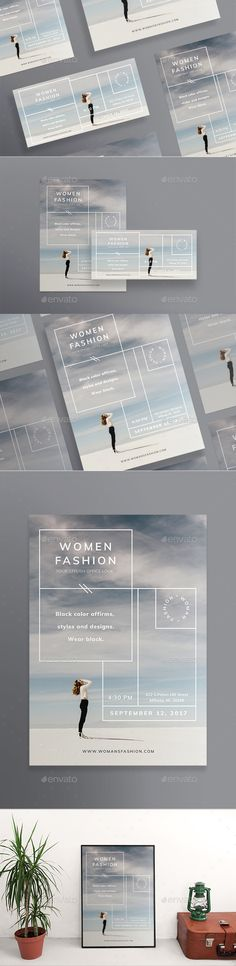 Women Fashion Flyer Template PSD, Vector EPS