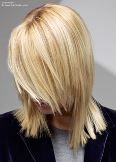 shoulder length blonde hair