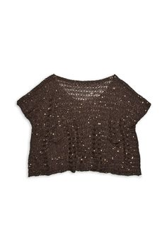 Side pocket Sequin sweater