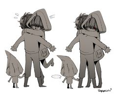 "tongsyu: "" Little Nightmares "" Anime Couples Manga, Cute Anime Couples, Anime Girls, Rpg Horror Games, Horror Movies, Little Nightmares Fanart, Runaway Kids, Little Misfortune, Creepy Games"