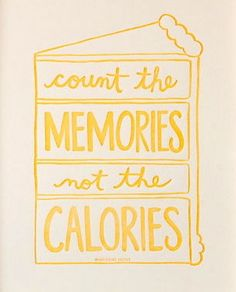 count the memories not the calories | #letterpress print by Nourishing Notes | #kitchen #baking