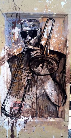 Trombone shorty painting! Art by Crystale