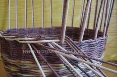 tvorba - Pletení z papíru - Uzavírka třípárová - dvoubarevná Basket Weaving, Wicker, Christmas Crafts, Knitting, Wall, Tutorial, Craft, Paper Envelopes, Tricot