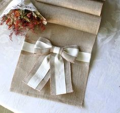 Burlap table runner Wedding table runners Country by Bannerbanquet