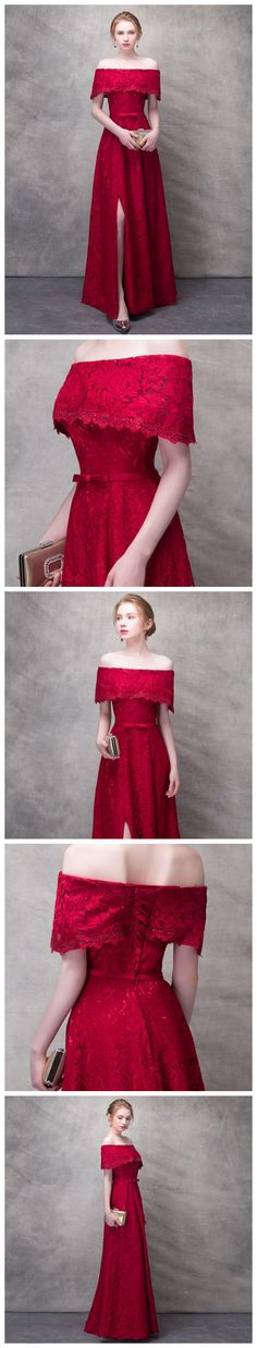 CHIC RED PROM DRESS APPLIQUE A-LINE OFF SHOULDER LONG PROM DRESS PARTY DRESS AMY041 #amyprom #fashion #love #formaldress #beautifuldress #longpromdress #modest