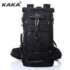 KAKA Men Backpack Travel Bag Large Capacity Versatile Utility  Mountaineering Multifunctional Waterproof Backpack Luggage Bag-in Backpacks  from Luggage ... 53acbad5d7fa6