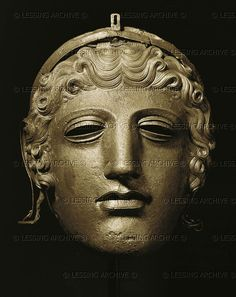 Face mask helmet. Silver and iron (1st CE) from Stara Zagora.  Archaeological Museu,Stara Zagora,Bulgaria Thracian