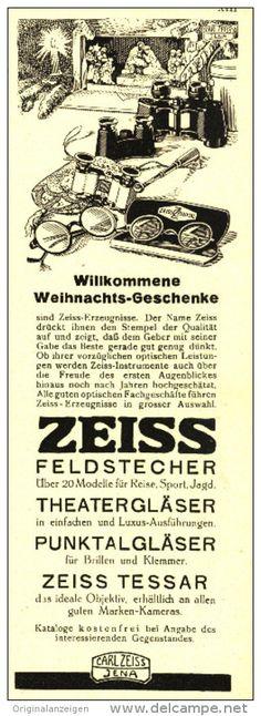 Original-Werbung/Inserat/ Anzeige 1931 - CARL ZEISS JENA / FELDSTECHER - ca. 210 x 80 mm
