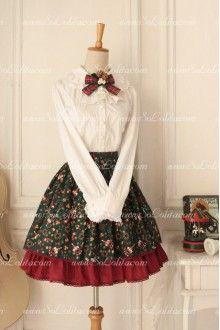 Santa Claus Printed Original Vintage Fairy Sweet Lolita Skirt