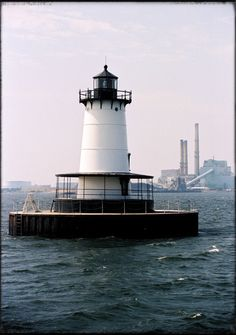 Borden Lighthouse, Fall River Massachusettes - 8x10 Photographic Metallic Print on Etsy, $25.00