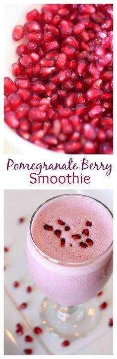 Pomegranate Berry Smoothie recipe on MyRecipeMagic.com
