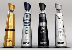 Brilliant - Galactic Elixir Vessels - The Evian Star Wars Bottle Design is Out of This World (GALLERY)