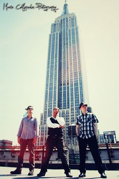 Band photoshoot under the Empire State Building in New York City