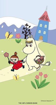 Little My & the Snorkmaiden Cartoon Wallpaper, Moomin Wallpaper, Cute Wallpaper For Phone, Hello Kitty Wallpaper, Little My Moomin, Cute Wallpapers, Wallpaper Backgrounds, Iphone Wallpaper, Moomin Valley