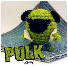 #Hulk #pug #amigurumi #dog
