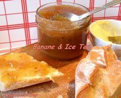 Confiture banane et ice tea à la pêche