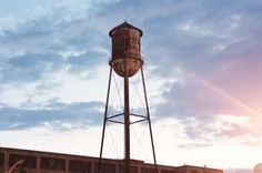 old water tower at an old Chrysler Plant in Kokomo, IN