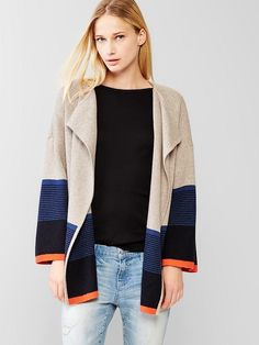Colorblock sweater coat - Deliciously cozy and probably better suited for cooler weather than CA.