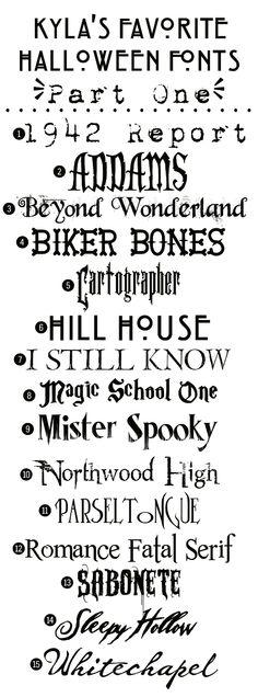 Fifteen free Halloween fonts #freefonts #contentmarketing