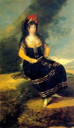 Francisca de Asís Gutierrez de los Ríos y Solís, I Duquesa de Fernán Núñez, pintada por Goya