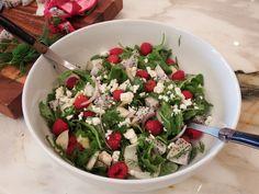 Raspberry & Dragon Fruit Salad - Raspberry Vinaigrette Dressing