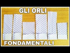 ✂️ Gli Orli fondamentali ✂️ - YouTube Sewing Hacks, Sewing Tutorials, Sewing Projects, Refashion, Diy Tutorial, Learning, Pattern, Youtube, Model