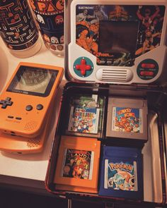 By abbygarrettmpf: My little stash of handheld games. I now have Pokemon Yellow Blue and Silver #gameboy #videogames #retrogaming #retrocollective #gbcartridges #Nintendo #powerrangers #handheldgaming #pacman #retro #vintage #90skid #ilovethe90s #retrogaming #microhobbit