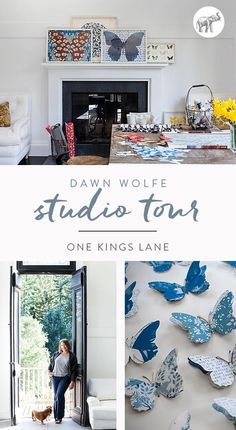 Nestled in the coastal Santa Cruz Mountains, surrounded by a redwood forest, is artist Dawn Wolfe's studio. Enveloped by nature, she finds inspiration for her multilayered three-dimensional works—depicting monarch butterflies, deer, and other creatures—right in her own backyard.