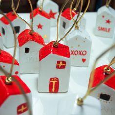 Christmas home bells, ceramics with gold, vitezartglassdesign