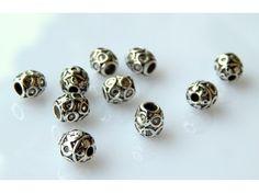 Razdelnici, perle, tibetansko srebro 6x6mm (10 kom)