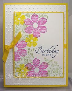 Stamping Styles Birthday Card Design Cards For Her Wishes Craftwork