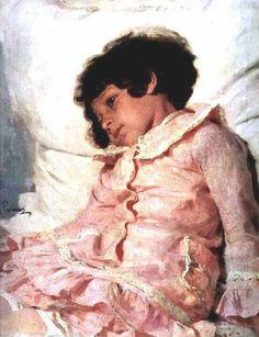 Retrato de Nadia Repina.Ilya Repin1881