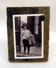 Rustic Picture Frame Handmade Vintage Nail by ThePinkToolBox, $17.00