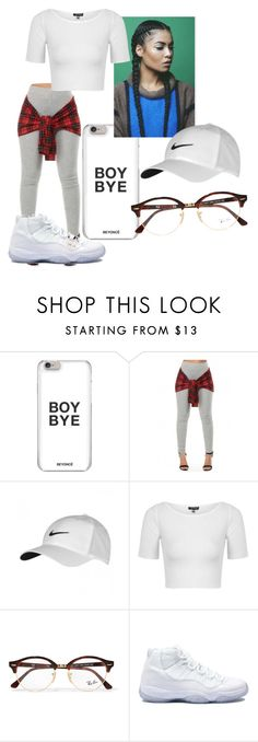"""""""Untitled #291"""" by godlymonii on Polyvore featuring NIKE, Topshop, Ray-Ban and Retrò"""