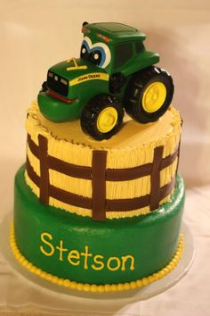 Tractor Theme Cake | Cakes and Cupcakes for Kids birthday party ...